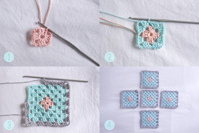 Корзинки крючком из бабушкиных квадратов