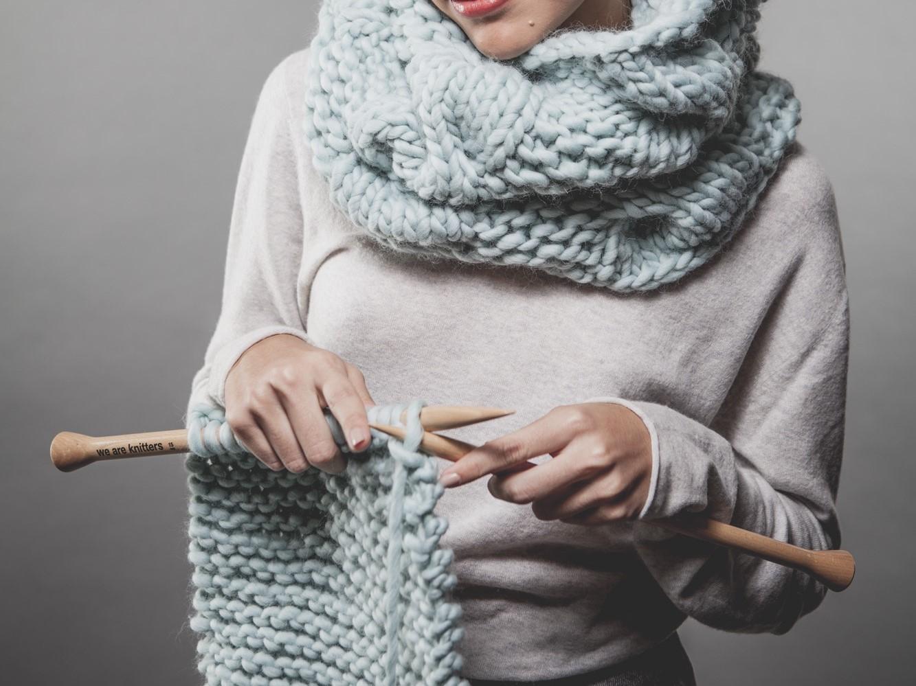 Как связать женский шарф снуд спицами для начинающих 9