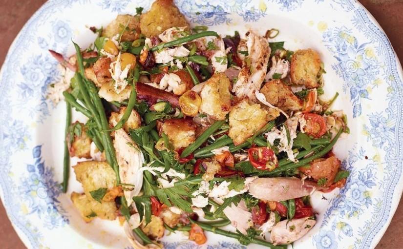 салат с запеченной курицей от джейми оливера