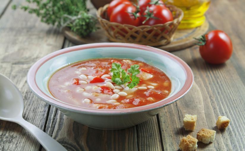 Рецепт томатного супа с фасолью