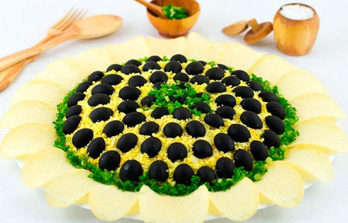 Рецепт салата Подсолнух