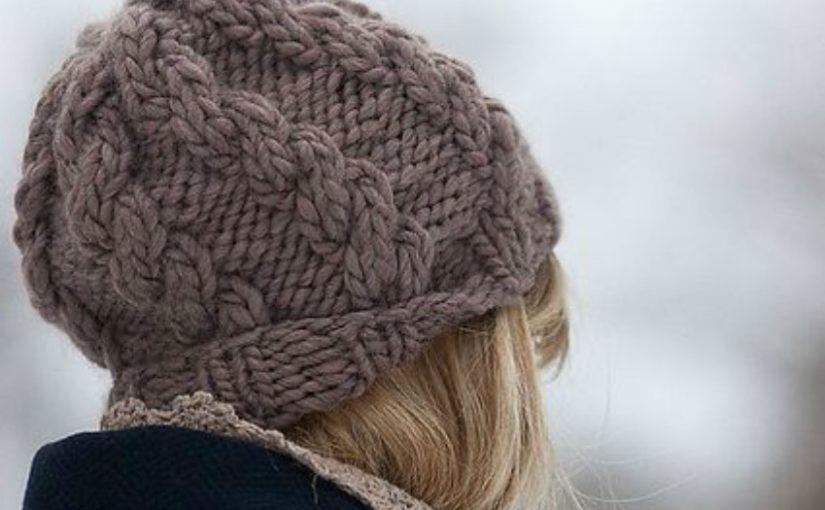 Объемная шапка с косами