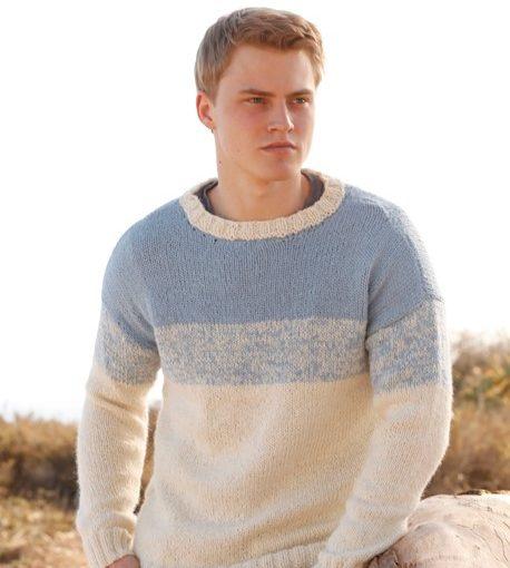 Классический мужской пуловер «Blue Horizon» от Drops Design