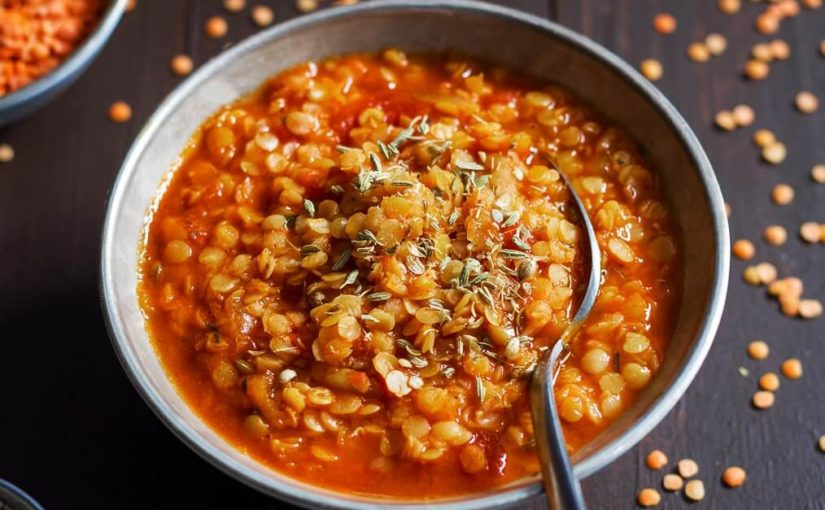 Суп из чечевицы и булгура